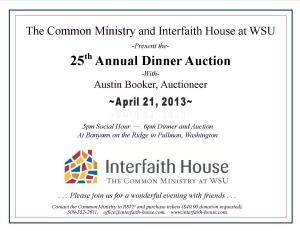 Interfaith House WSU Dinner Auction